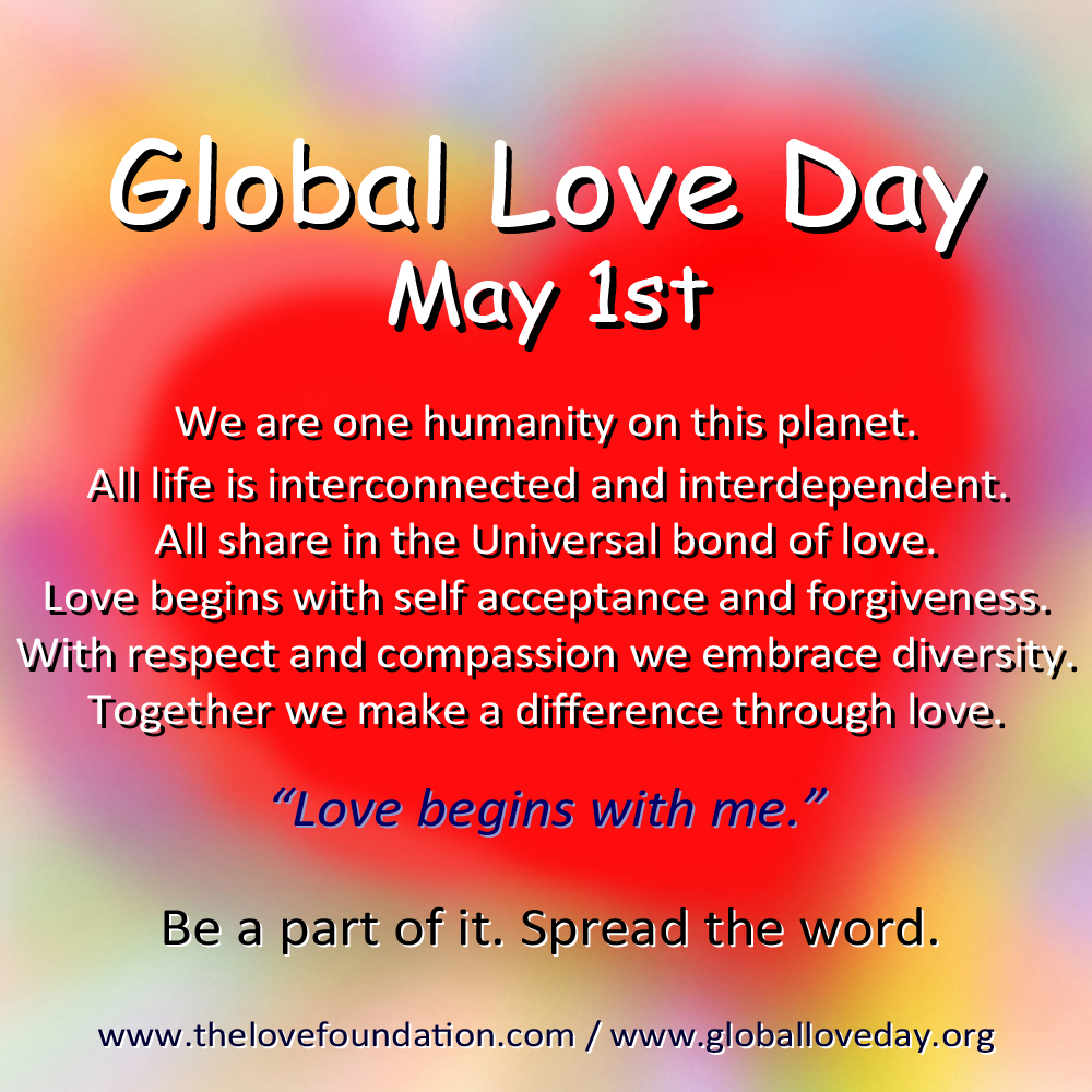 art essay poetry invitational global love day  global love day tenets over heart